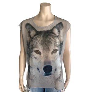 Streetwear Society Sleeveless Wolf Top